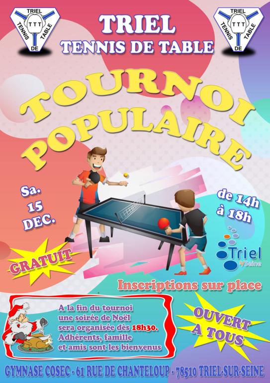 Tournoi Populaire 2018 Tennis De Table Triel Sur Seine